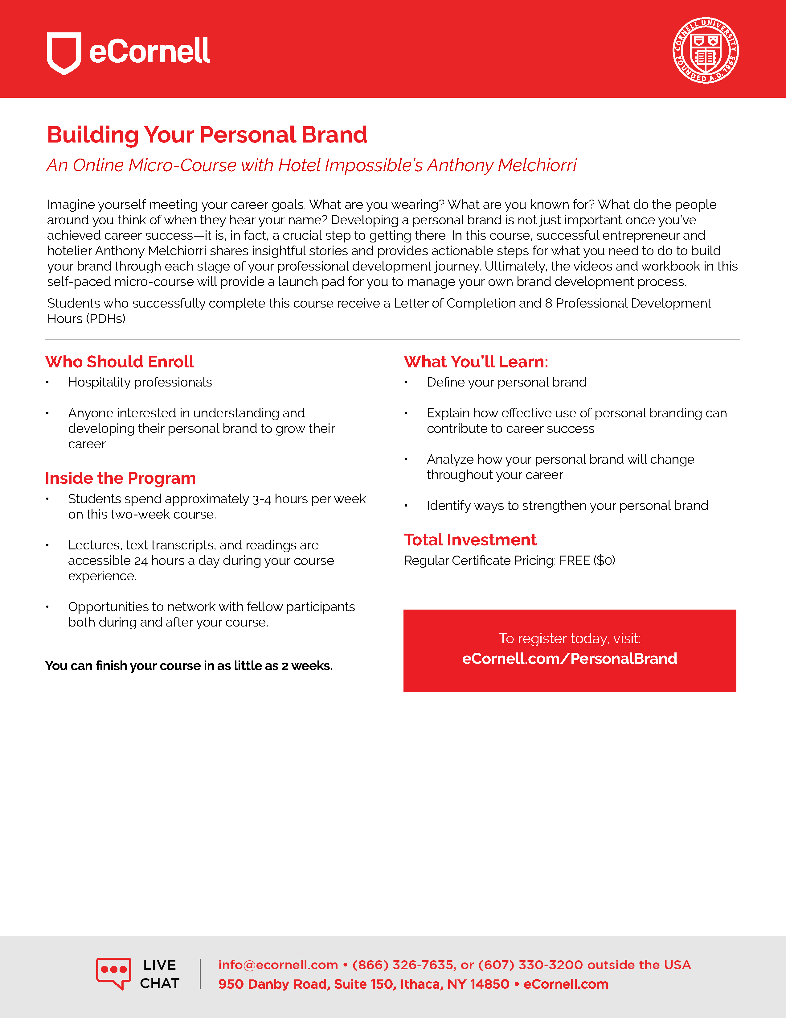 Building Your Personal Brand Flyer