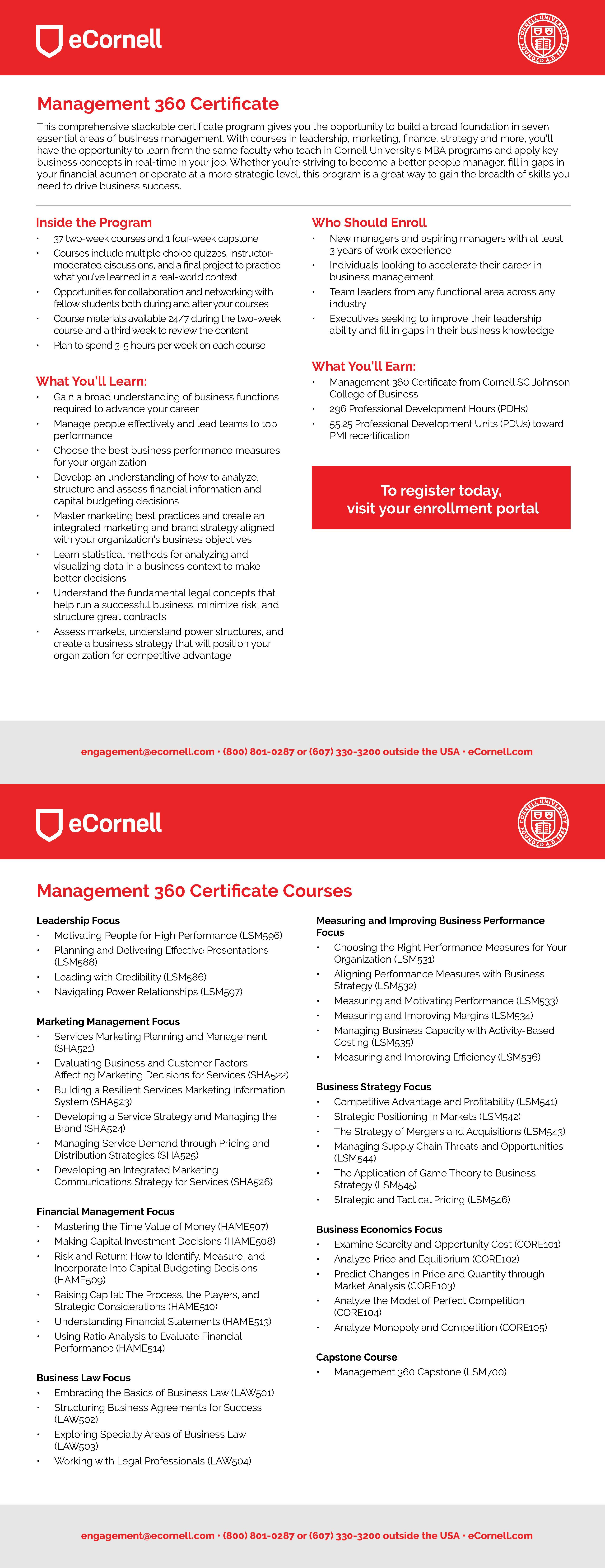 Management 360 Flyer for Corporations