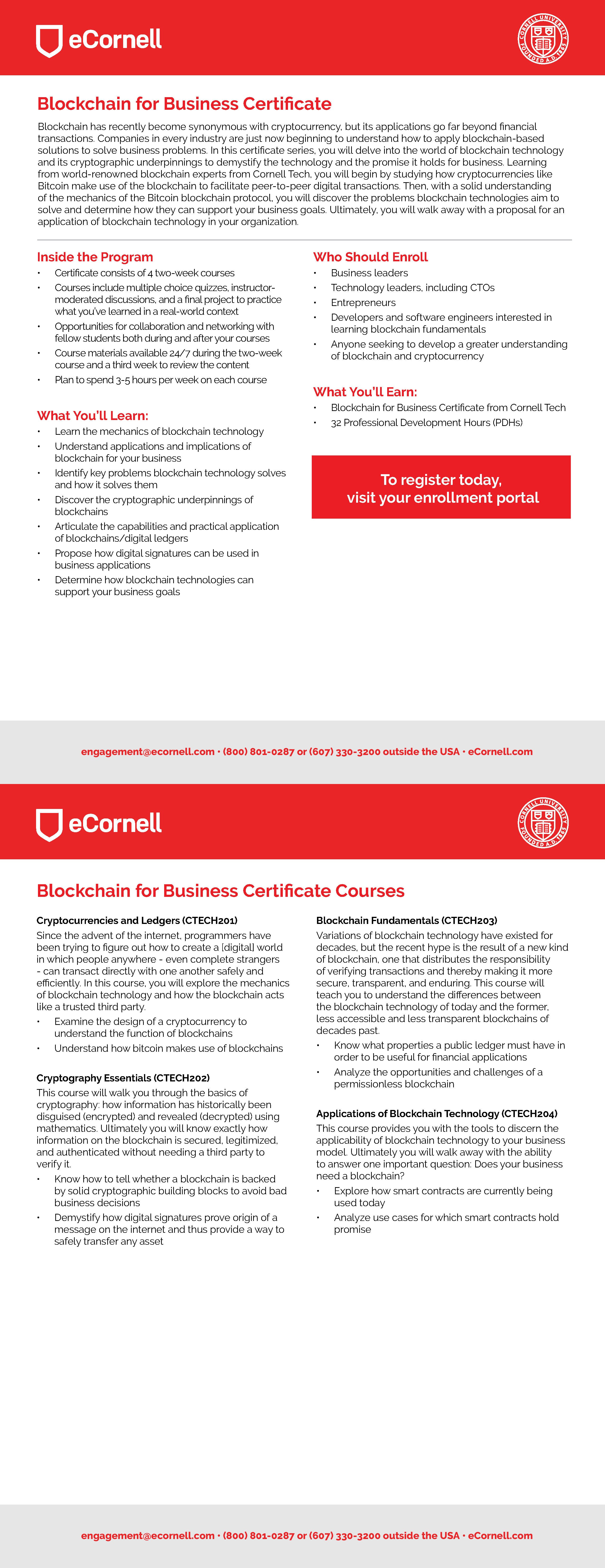 Blockchain for Business Flyer for Corporations