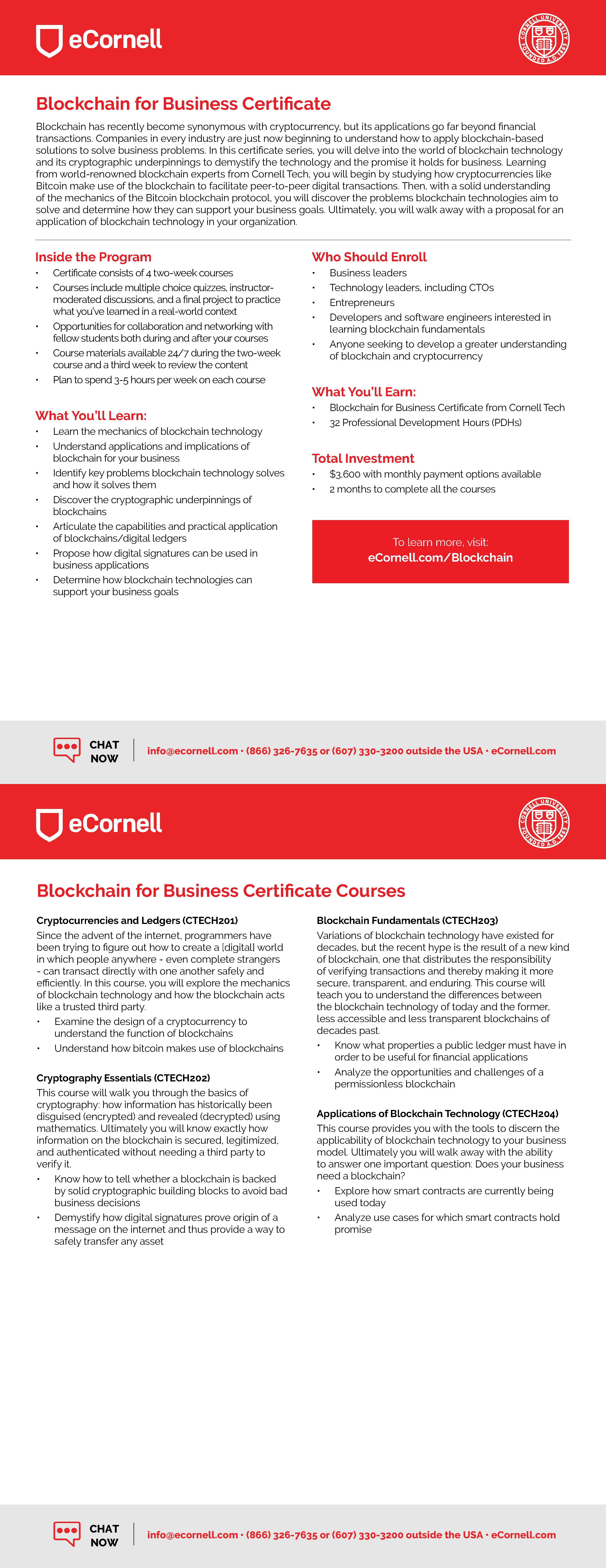 Blockchain for Business Flyer