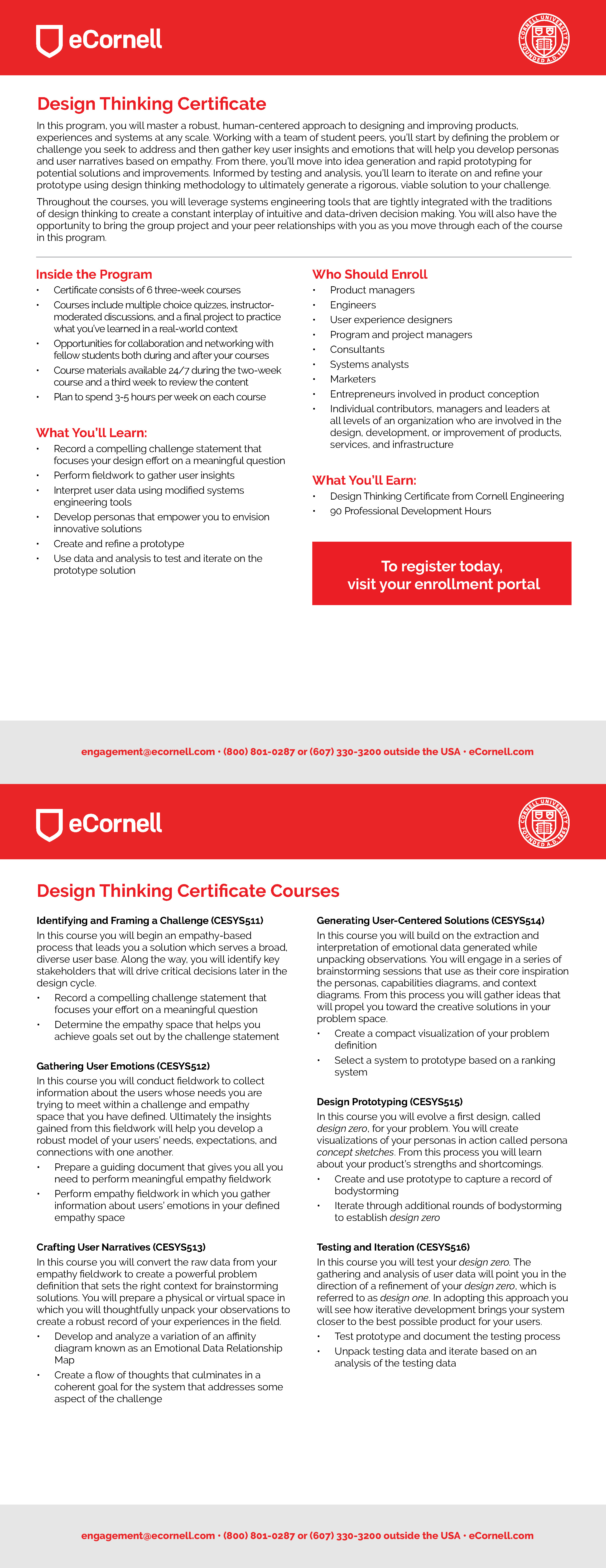 Design Thinking Flyer for Corporations