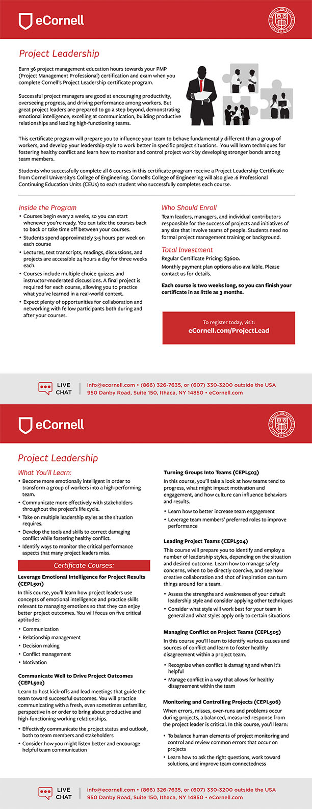 Project Leadership Flyer