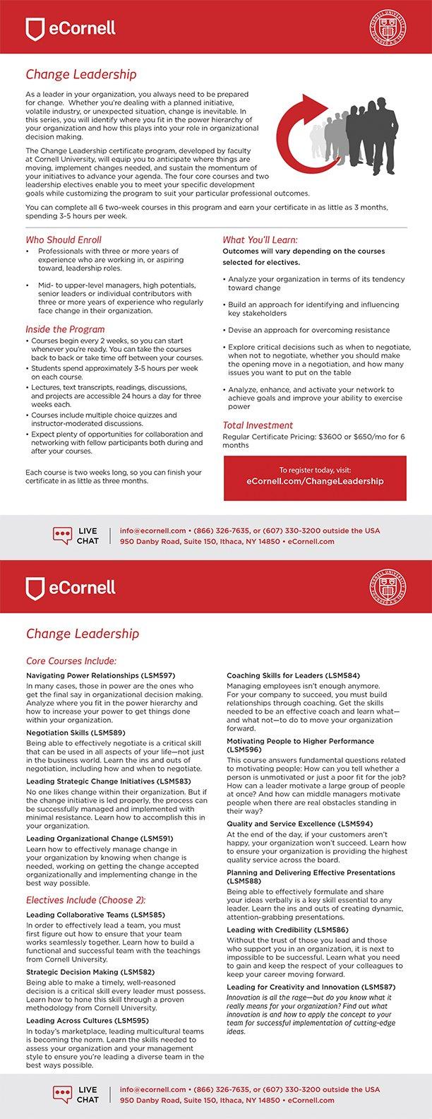 Change Leadership Information Sheet