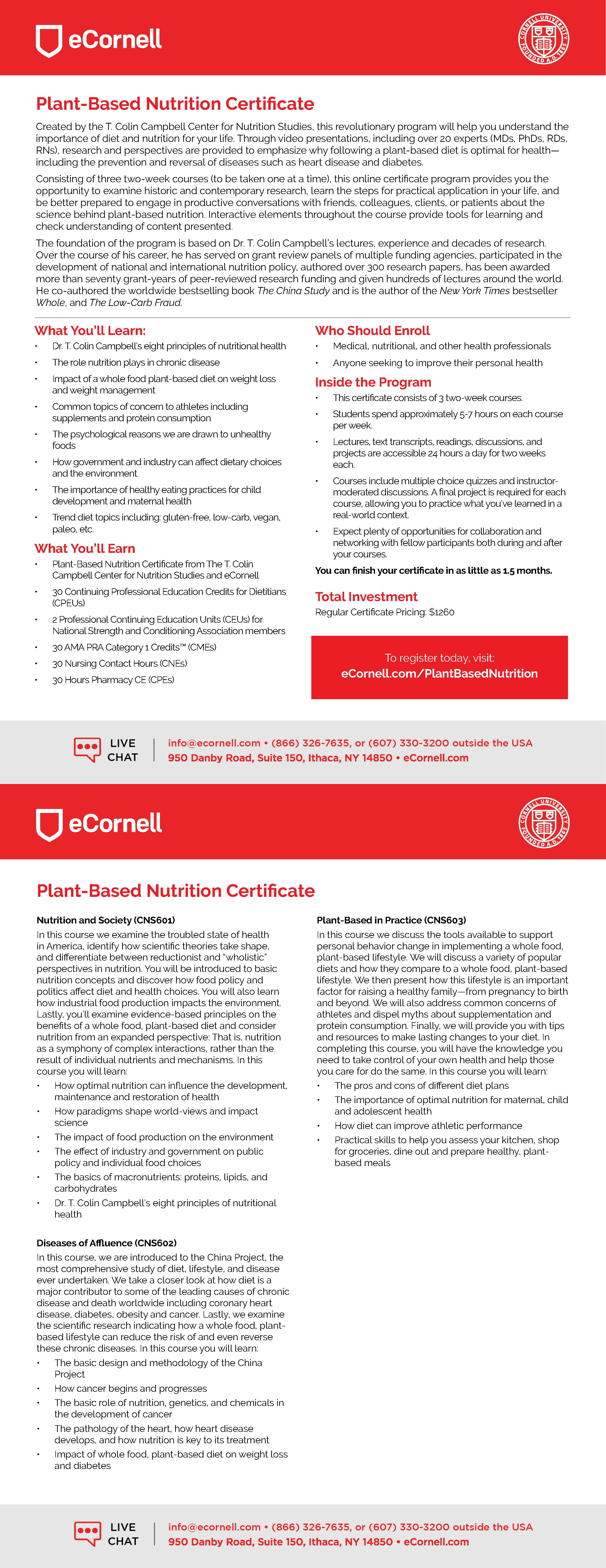 Plant-Based Nutrition Flyer