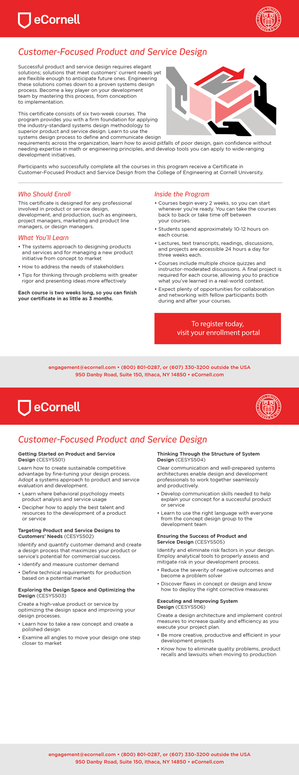 Customer-Focused Product and Service Design Flyer for Corporations