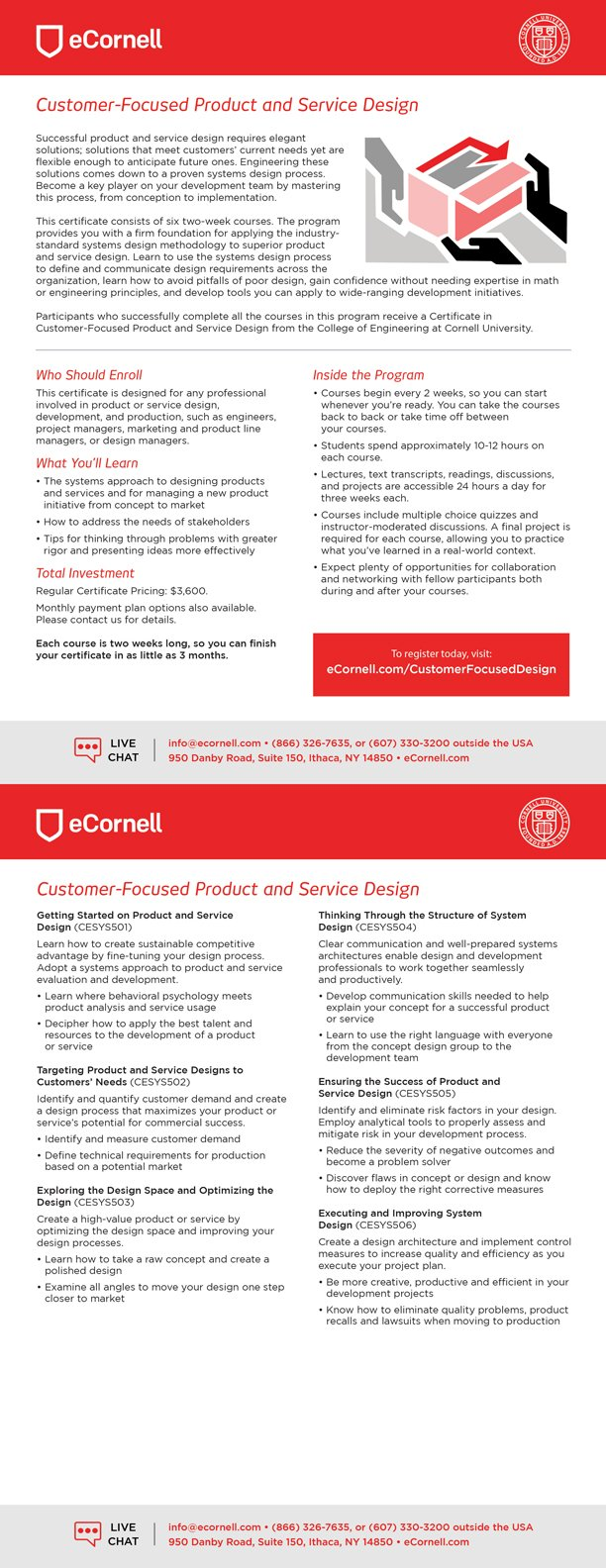 Customer-Focused Product and Service Design Flyer
