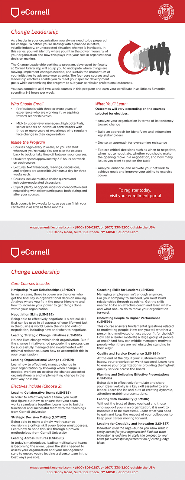 Change Leadership Flyer