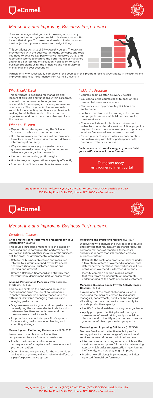 Measuring and Improving Business Performance Flyer for Corporations