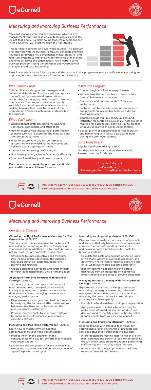 Measuring and Improving Business Performance Flyer