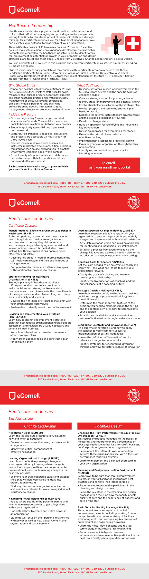 Master Certificate in Healthcare Leadership Flyer for Corporations