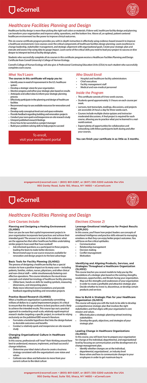 Healthcare Facilities Planning and Design Flyer for Corporations
