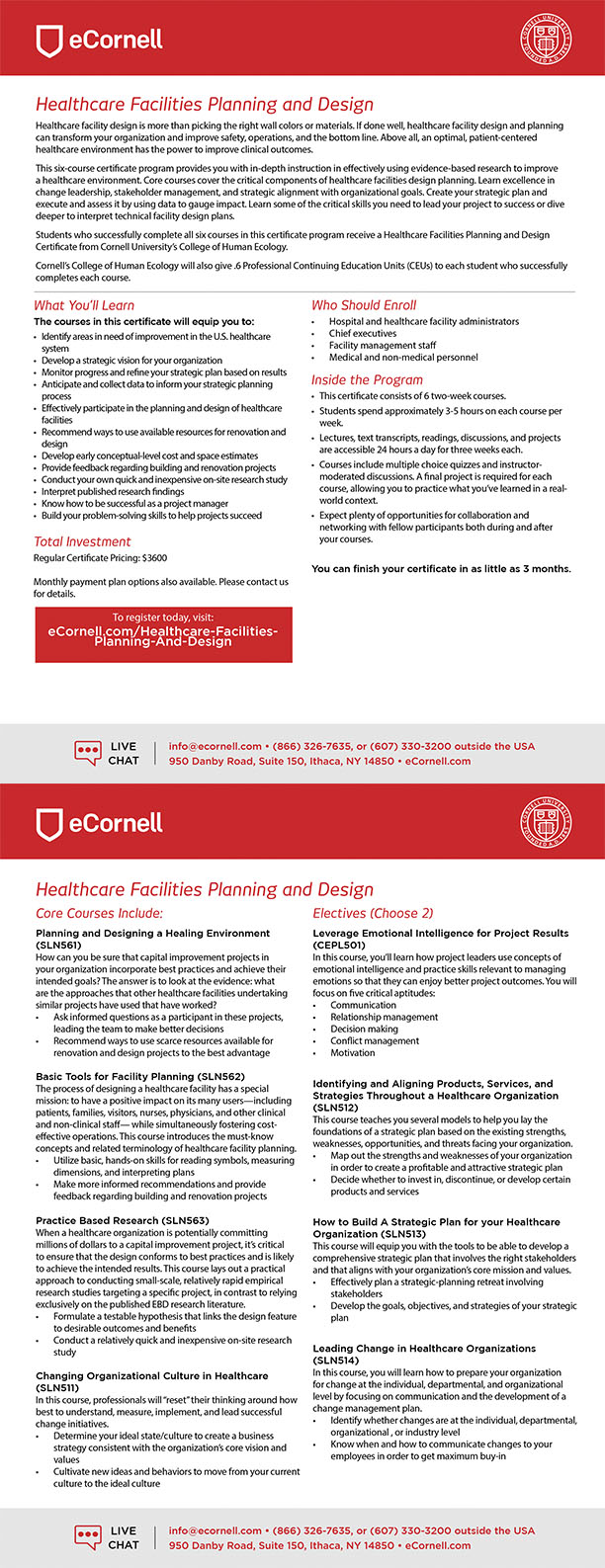 Healthcare Facilities Planning and Design Flyer