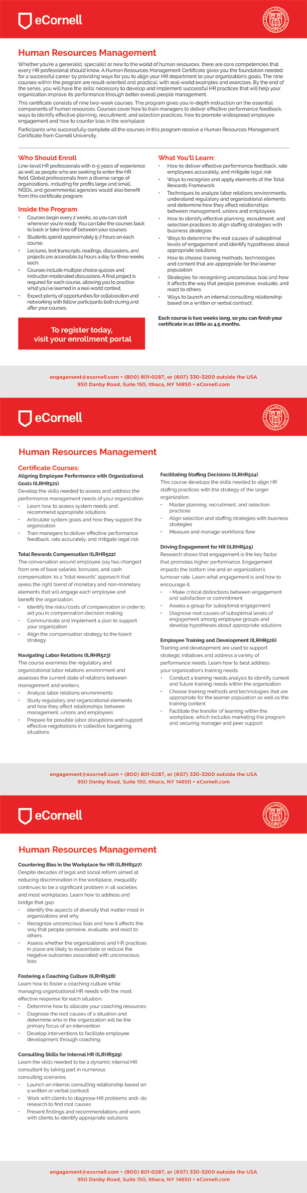 Human Resources Management Flyer for Corporations