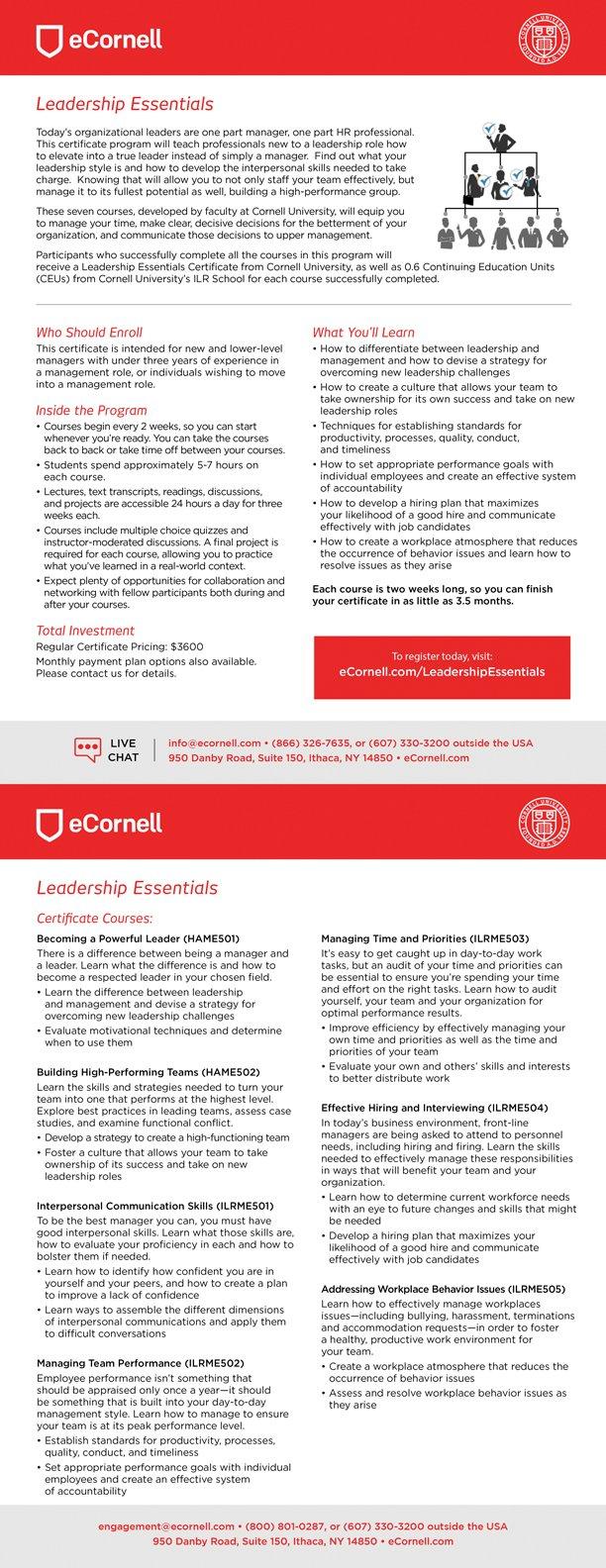 Leadership Essentials Flyer