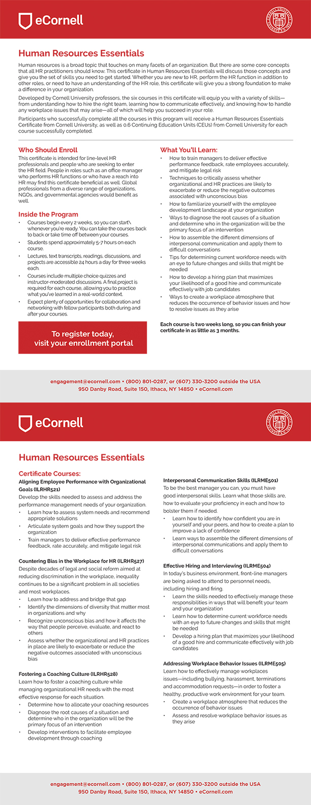 Human Resources Essentials Flyer for Corporations