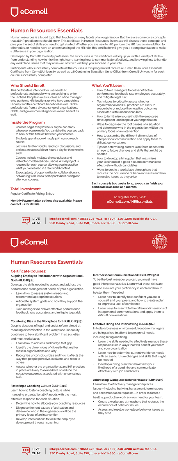 Human Resources Essentials Flyer