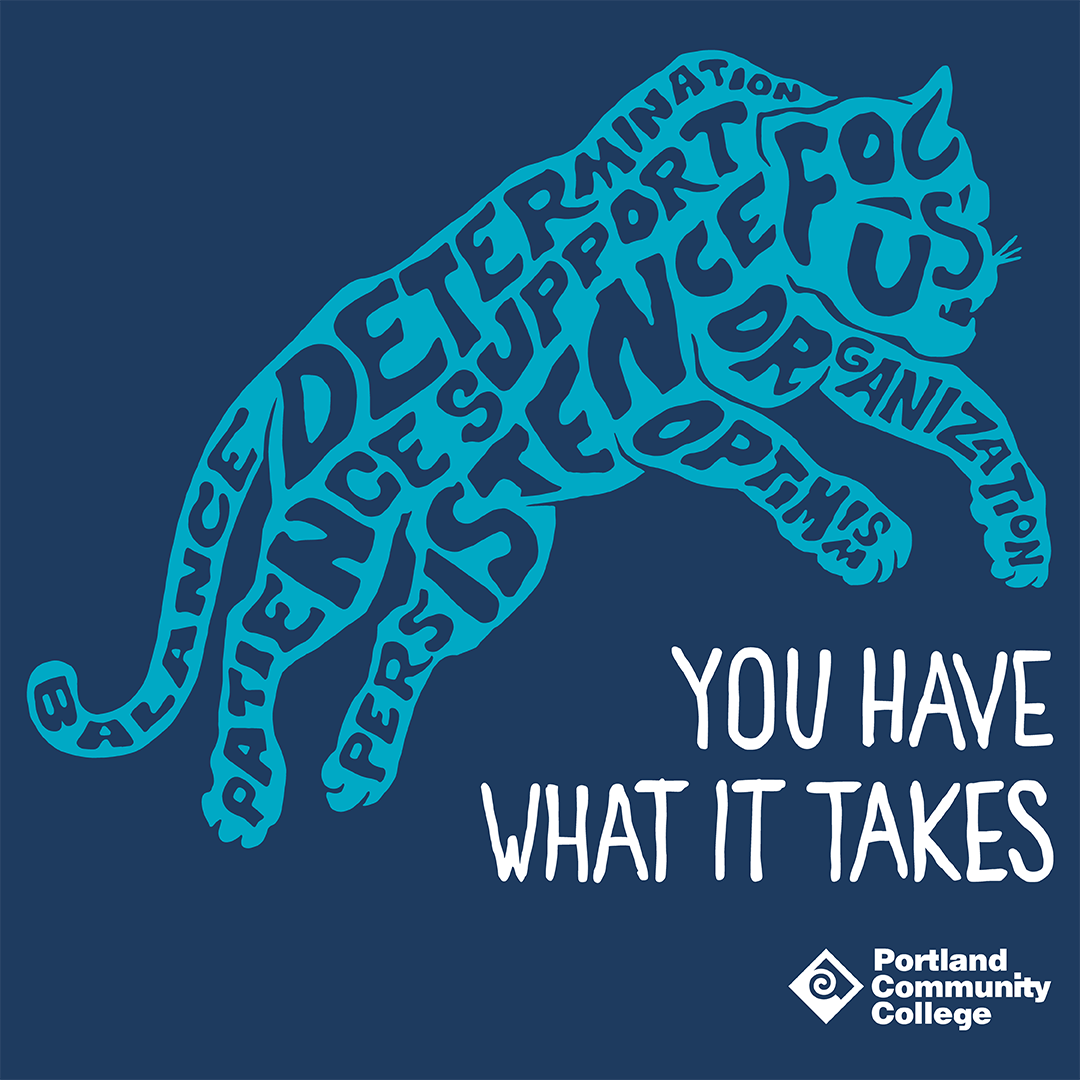 Panther graphic that says 'You have what it takes'