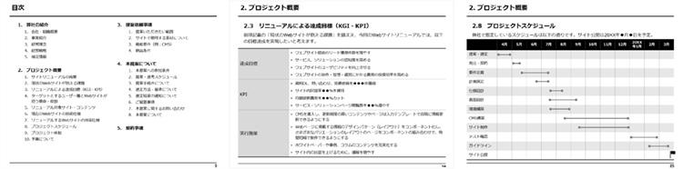 Webサイト制作の提案依頼書(RFP)テンプレートイメージ