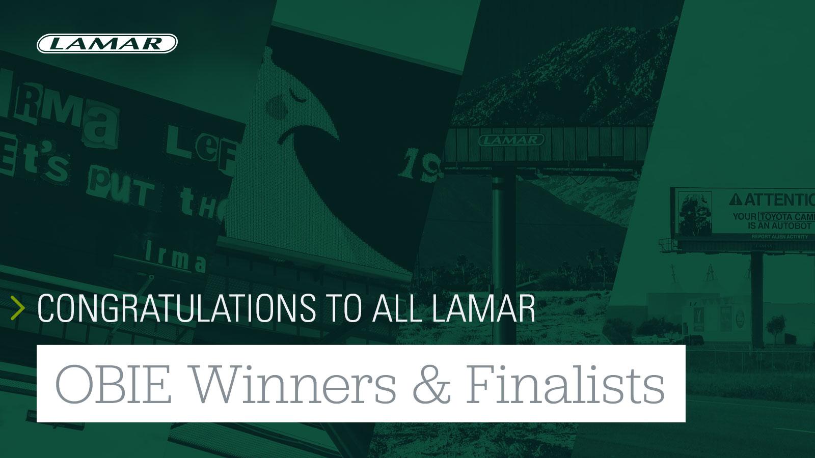 Lamar Obie Winners