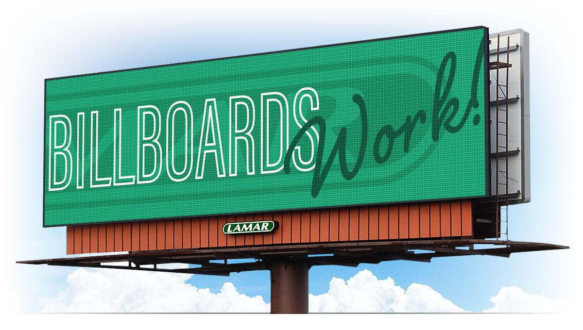 Billboards from Lamar Work!