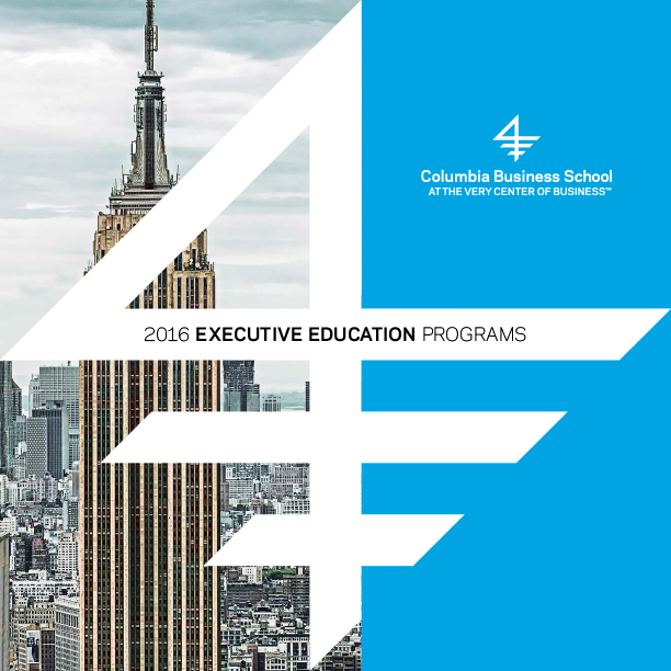 Executive Education 2016 Catalog