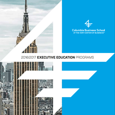 2016 Executive Education Programs