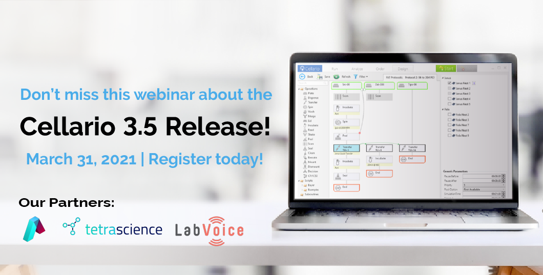 Save the date for the Cellario 3.5 release March 31