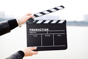 video clapboard