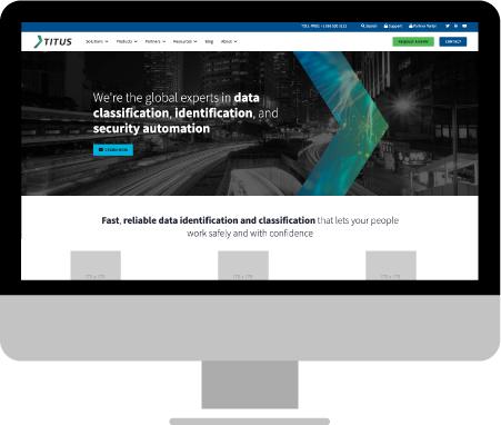 Titus.com screen on an iMac