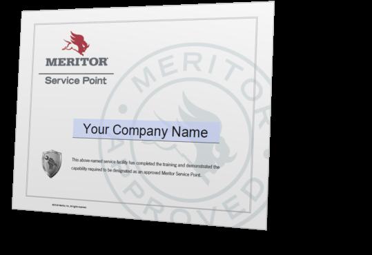 Meritor Service Point Certificate