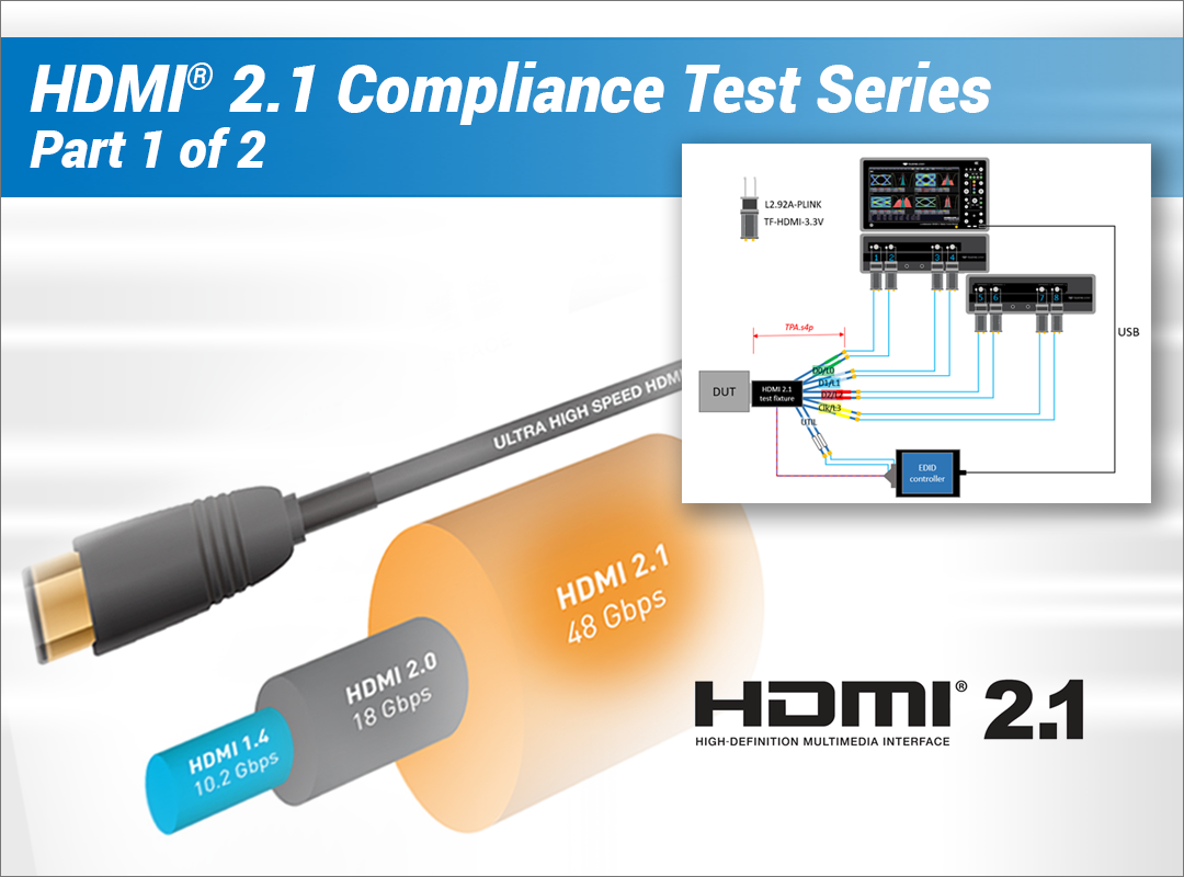 Part 1: PHY Compliance Testing for HDMI® 2.1 and Beyond Webinar