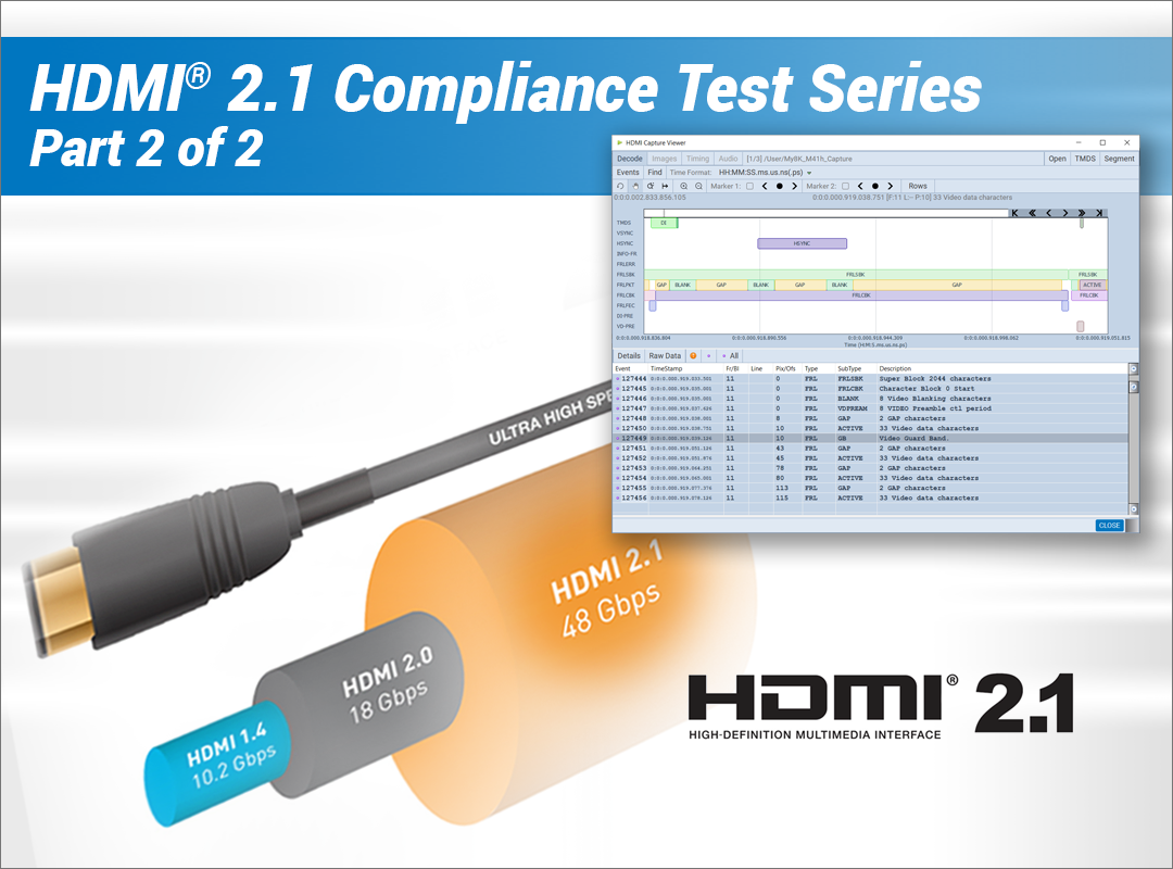 Part 2: Protocol Compliance Testing for HDMI® 2.1  Webinar