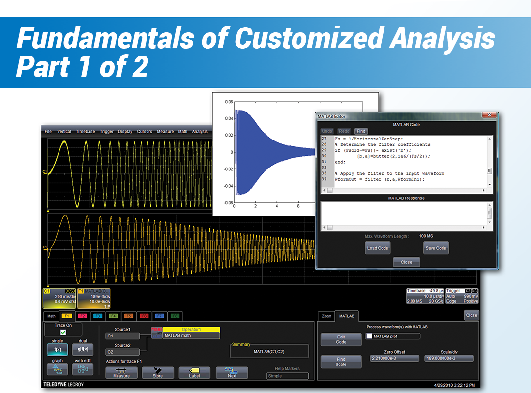 How to Perform Customized Analysis With an Oscilloscope Part 1 Fundamentals of Customized Analysis Webinar