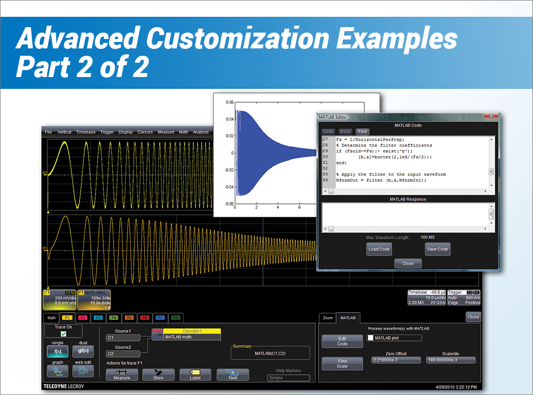 How to Perform Customized Analysis With an Oscilloscope Part 2 Advanced Customization Examples Webinar