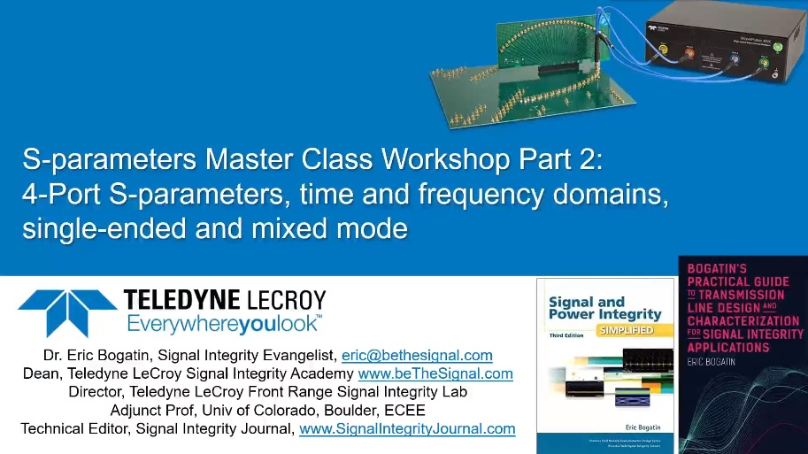 S-parameters Master Class Workshop