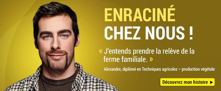 Photo d'Alexandre, diplômé en techniques agricoles - production végétale