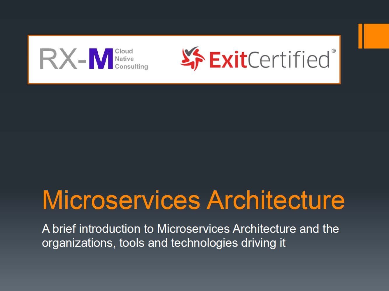 RX-M and ExitCertified - Microservices Architecture