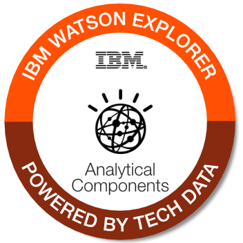 Tech Data - Watson Explorer Analytical Components badge