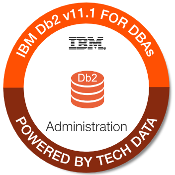 Tech Data - Db2 11.1 for DBAs badge