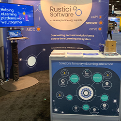 Rustici Software trade show booth