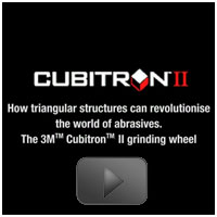 3M™ Cubitron™ II Single Rib Gear Grinding Wheel