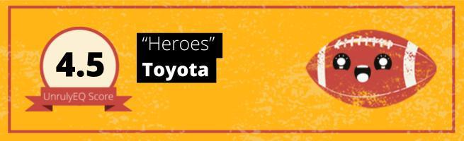 Toyota - 'Heroes' - 4.5 EQ Score