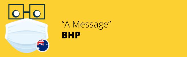 BHP - A Message