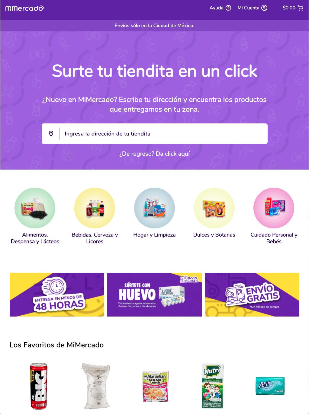 The MiMercado Marketplace Progressive Web Application
