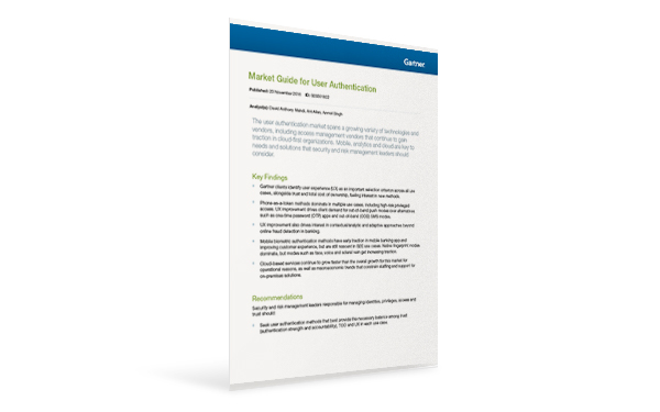 Gartner User Authentication Market Guide