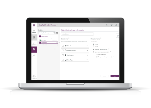 SafeNet Trusted Access Interface