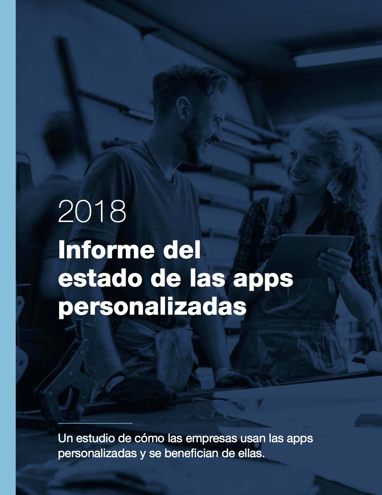 Portada del Informe del estado de las apps personalizadas 2018