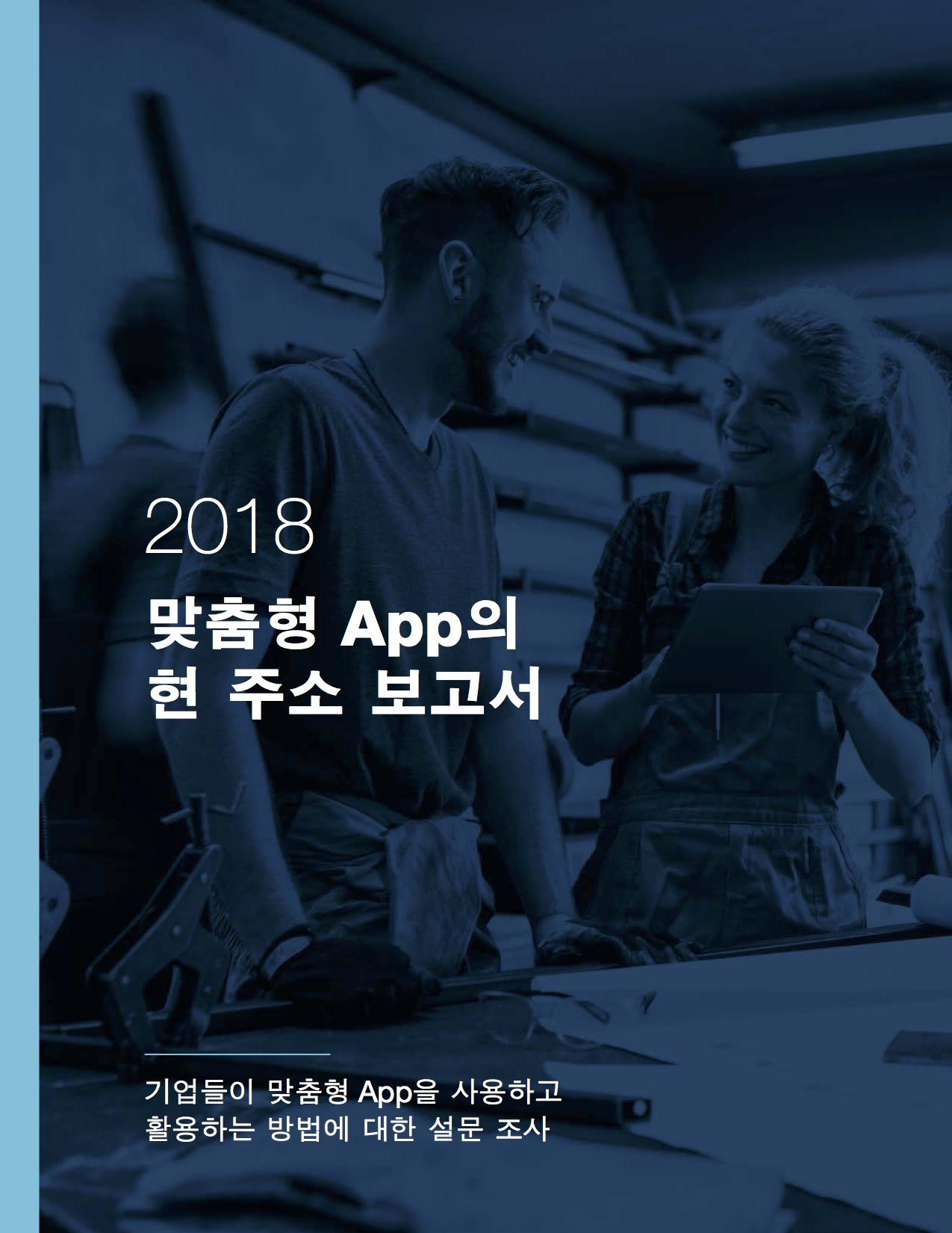 2018 맞춤형 App의 현주소 보고서 표지