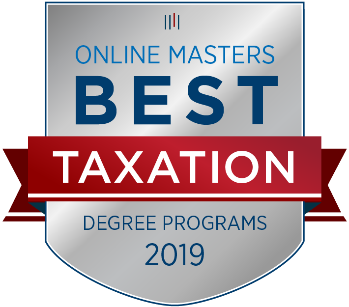 Best Online Master's in Taxation Programs Badge