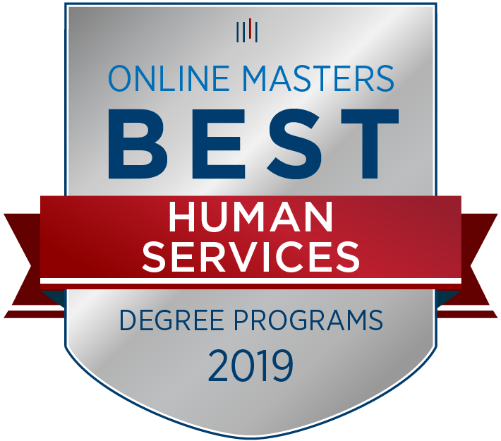 Best Online Master's in Human Services Badge